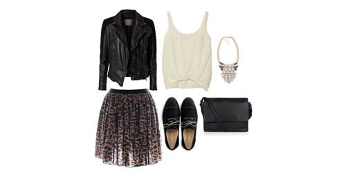 Look of the Day: Print i koža