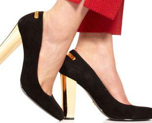 Damski koraci uz cipele za posao