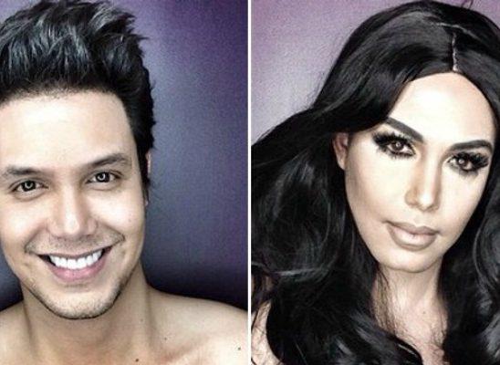 Šta sve može šminka: Muškarac kao ženske zvezde