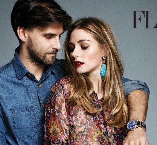 """Olivija Palermo i Johanes Huebl na naslovnici magazina """"Flare"""""""