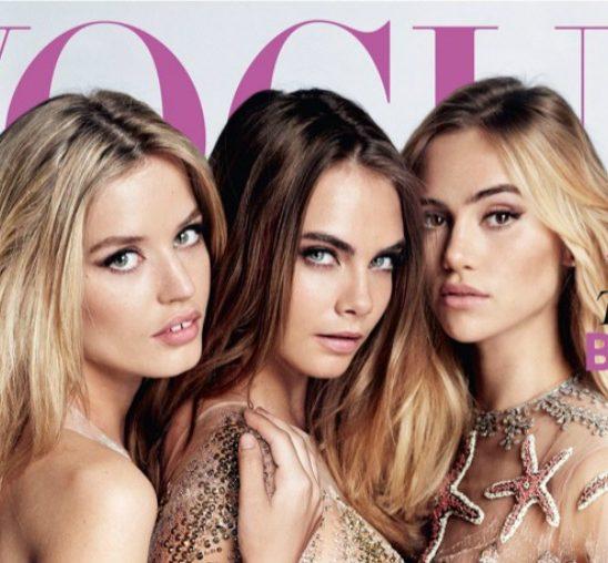 """Tri gracije na naslovnici magazina """"Vogue UK"""""""