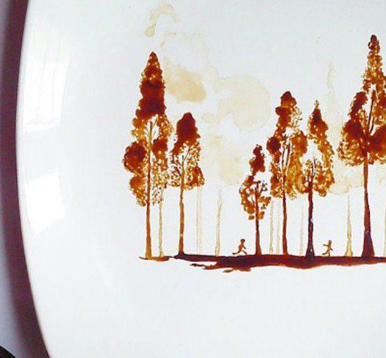 Umetnička dela nastala pomoću taloga od kafe