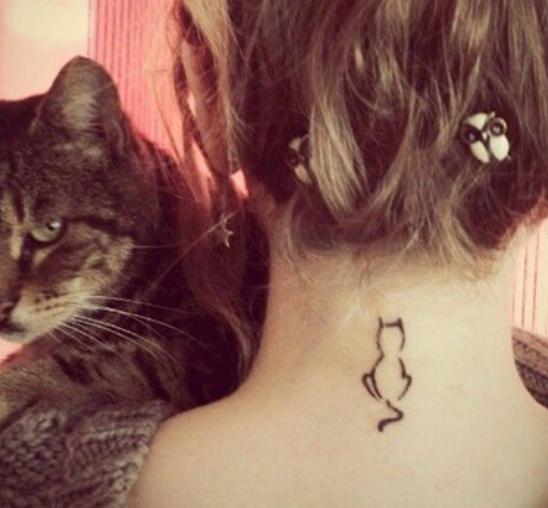 Minimalne tetovaže za sve ljubitelje mačaka