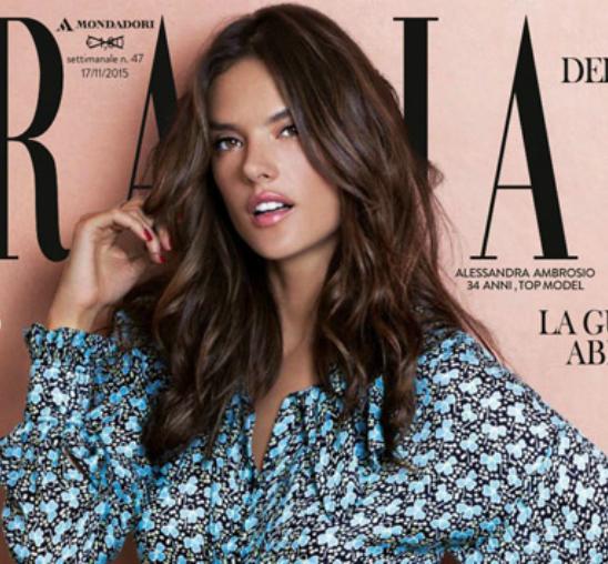 "Alesandra Ambrosio na naslovnoj strani magazina ""Grazia"""