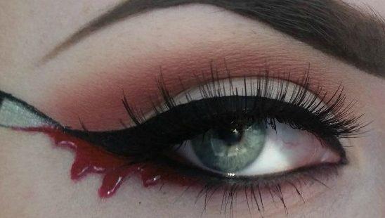 """""""Nož"""" ajlajner: Novi Instagram makeup trend pogodan isključivo za Noć veštica"""