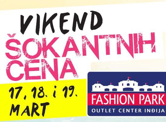 Vikend šokantnih cena u Fashion Park Outlet Centru Inđija!
