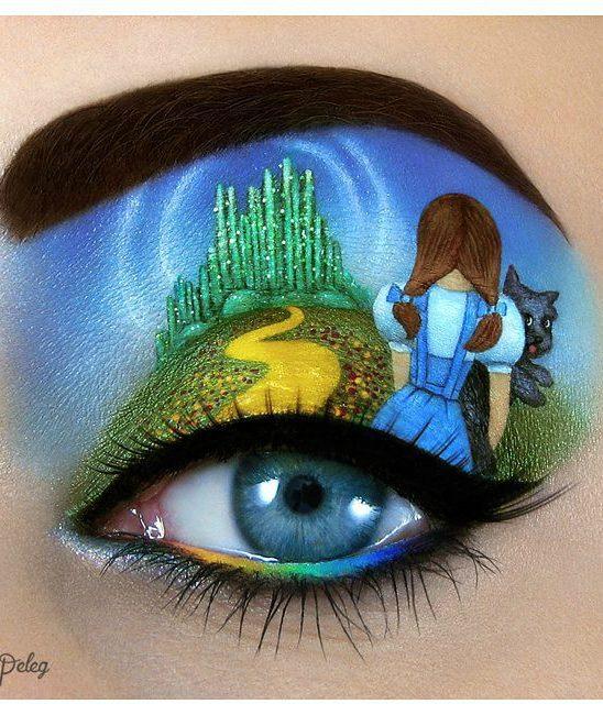 Umetničko šminkanje očiju – slike na kapcima