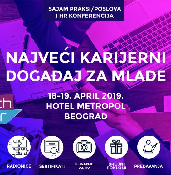 Belgrade Youth Fair 2019: Najveći karijerni događaj u regionu, 18. i 19. aprila u Beogradu