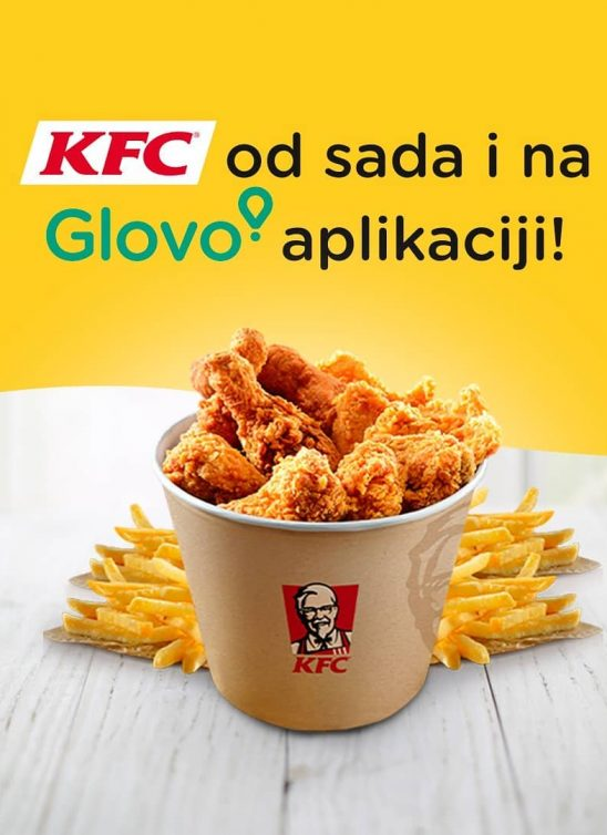 Glovo je ostvario saradnju sa lancem KFC Srbija za lakšu i bržu dostavu svetski najpoznatije piletine!