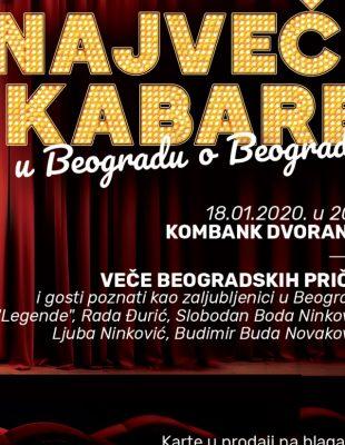 Veče beogradskih priča – najveći kabare u Beogradu