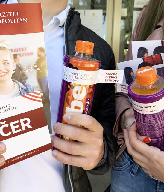 Kompanija Knjaz Miloš i Univerzitet Metropolitan zajedno donirali preko 3500 proizvoda za osveženje maturantima