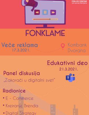 """Digitalni marketing – tema ovogodišnjeg projekta """"FONklame"""""""