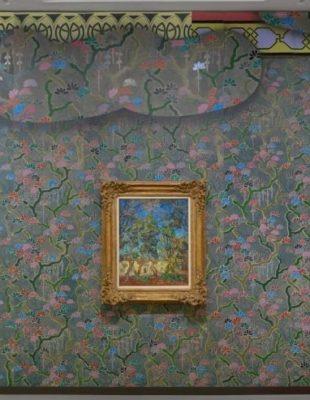 Izložba slika Van Gogha prekrivena raznobojnim ručno rađenim tapetama