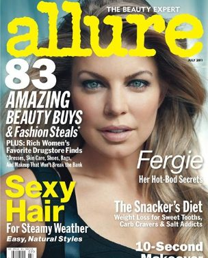 """Fergie za """"Allure"""" jul 2011."""