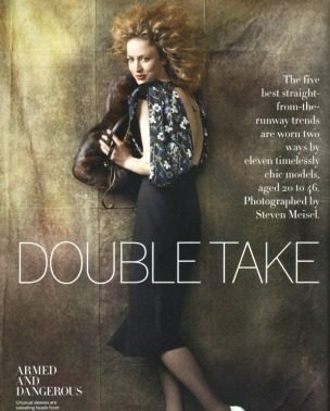 """""""Double Take"""" – Vogue US, avgust 2011."""