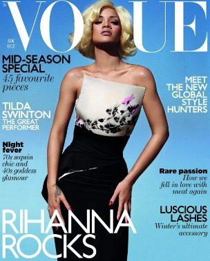 "Marilyn Monroe is back: Rihanna za ""Vogue UK"", novembar 2011."