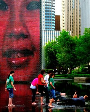 Trk na trg: Millennium Park, Čikago