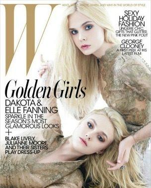 """Dakota & Elle Fanning za """"W"""""""